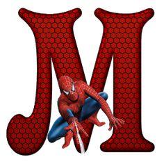Whisper of Love: Alphabet Spiderman PNG Spiderman Theme Party, Spiderman Birthday Invitations, Spiderman Images, Black Spiderman, Gold Birthday Party, Superhero Birthday Party, Fête Spider Man, Spiderman Cake Topper, Cupcake Logo