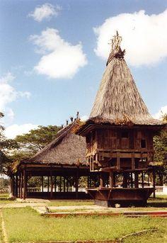 Sacred house (lee teinu) in Lospalos, East Timor