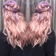 purple/pink Balayage Ombre