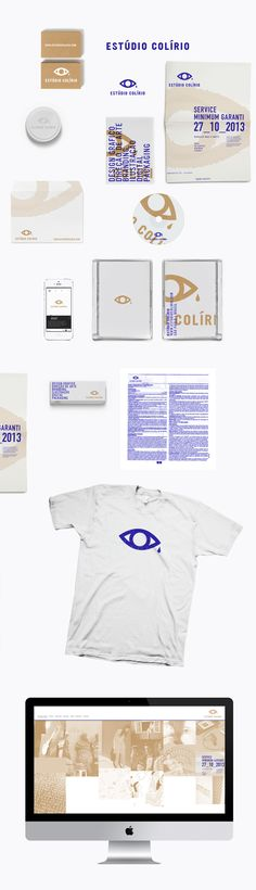 COLÍRIO IDENTITY by Diego Bellorin, via Behance Brand Identity Design, Graphic Design Branding, Logo Design, Corporate Id, Corporate Design, Visual Identity, True Identity, Identity Branding, Stationary Branding