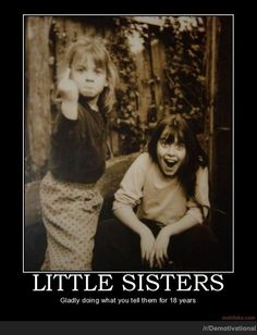 LITTLE SISTERS Funny Demotivational Posters
