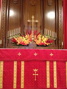 Possibility for Pentecost - like the combination of red, yellow, and orange.
