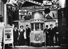 A continuous performance policy dominated vaudeville for almost two decades before the big-time theatres returned to the two-a-day in the early twentieth century. Up to twelve hours, in which scheduled acts would appear two or three times!
