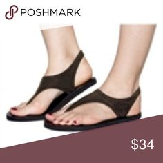 3bc4d2f5672c58 Topsies Brown stretch sandal YOGA flip flops Topsies Brown stretch sandal  YOGA flip flops with super comfy stretch top and cushy flip flop sole.