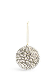 Beaded Pearl Bauble | M&S