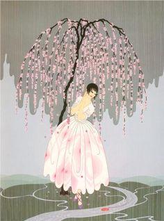 Blossom Umbrella - Erte