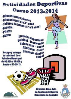 Actividades deportivas para el calendario 2013-2014 en San Juan del Puerto (Huelva)