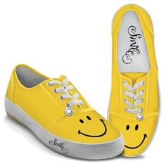 online shopping for Bradford Exchange Yellow Smile Women's Canvas Shoes The Bradford Exchange from top store. See new offer for Bradford Exchange Yellow Smile Women's Canvas Shoes The Bradford Exchange Yellow Sneakers, Yellow Shoes, Sneakers Mode, Sneakers Fashion, Basket Sneakers, Baskets, Armani Exchange, New Shoes, Women's Shoes