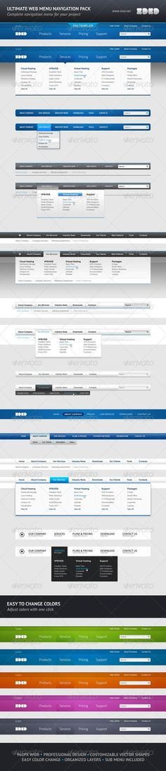 775a4c1876aff Buy Ultimate Web Menu Navigation Pack by xdkd on GraphicRiver. 10 website  menus