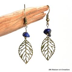 Folk romantic earrings lapis lazuli jewelry by DSNatureetCreation https://www.etsy.com/listing/242094390/folk-romantic-earrings-lapis-lazuli
