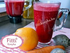 Fitti Konyha: Cékla-répa-narancs turmix fahéjjal Healthy Drinks, Healthy Dinner Recipes, Cooking Recipes, Nutribullet, Natural Life, Milkshake, Food To Make, Smoothies, Beverages