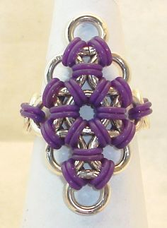 Rubber Polyiamond Rings Japanese Chainmaille by TheChainmailleLady, $29.00
