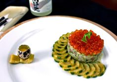 Hamachi Tartare with Miso Pickled Cucumber & Salmon Roe Salmon Roe, Pickling Cucumbers, Butterfly Effect, Eggs, Breakfast, Food, Morning Coffee, Essen, Egg