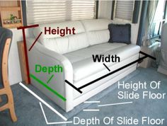 RV Jack Knife Sofa Replacement | ModMyRV