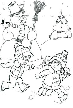 Most Popular Winter Crafts in Our Website - Outdoor Click Coloring Pages Winter, Christmas Coloring Pages, Coloring Book Pages, Coloring Pages For Kids, Coloring Sheets, Christmas Colors, Winter Christmas, Christmas Crafts, Printable Pictures