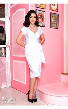 Pinup Couture - Ava Dress in Bridal White | Pinup Girl Clothing