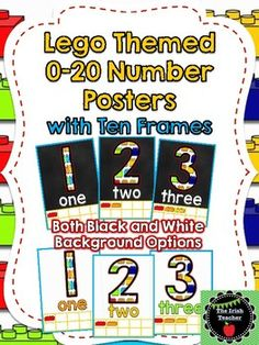 Bright and fun Lego themed number posters with ten frame visual Posters available with black or white background Looking for even more Lego inspired classroom decor and resources? Check out my other products: Lego Themed Bulletin Board Letters Back to School Bulletin Board EDITABLE Lego Themed Lego Themed EDITABLE Name Desk Plates Lego Themed Word Wall Fry's First 4,, Words With EDITABLE Bricks Lego Resources BUNDLE...