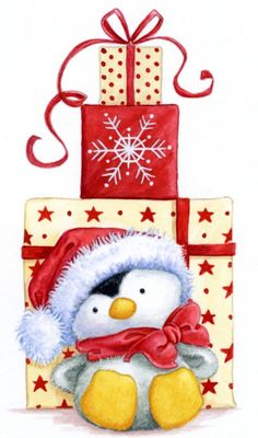 Christmas penguin with gifts diy christmas gifts, silhouette christmas gifts, colleague gifts christmas awww .Christmas penguin with gifts Noel Christmas, Christmas Animals, Christmas Pictures, Winter Christmas, Vintage Christmas, Christmas Crafts, Christmas Decorations, Christmas Ornaments, Christmas Patterns