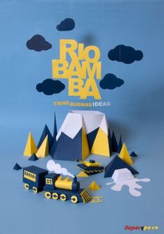 PAPER CUT - RIOBAMBA by Paulino Pachacama, via Behance - .awesome ideas & creative cut out art inspiration for PaperArt lovers Origami, Design Poster, Print Design, Paper Cutting, Plakat Design, Paper Illustration, Paper Artwork, Web Design, Art Graphique