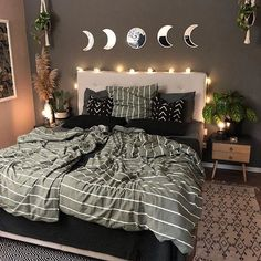 Black Bedroom Decor, Black Bedroom Design, Room Design Bedroom, Bedroom Green, Small Room Bedroom, Room Ideas Bedroom, Bedroom Decor For Couples Cozy, Cozy Bedroom, Couple Room