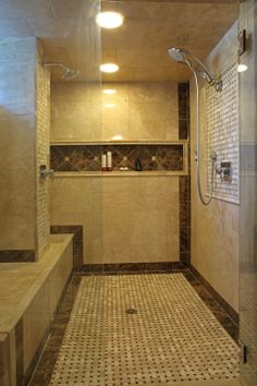 luxurious walk in shower with tile by satoree design minneapolis mn