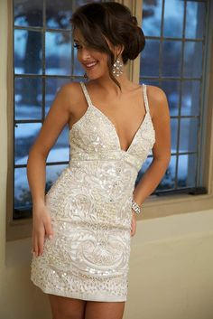 Sequin Jovani Dress #74464 gorgeous - perfect for a second dress for the reception