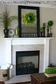 mantel decorating -