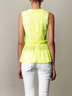 MSGM Neon pleated lace top  loving this brand
