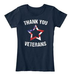 Thank You Veterans Stars and Strips Tee