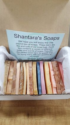 Soap, Sampler Box, 1 Pound of Soap Ends, Gift for Her, Unique Gift, Valentine's Day Gift, Goat Milk Soap