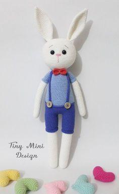 Amigurumi Cracker Bunny Boy Free Turkish and English Pattern (scroll Down)