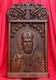 Art Icon of St. Christmas Past, Father Christmas, Religious Icons, Religious Art, Empire Romain, Art Icon, Orthodox Icons, Orient, Crucifix