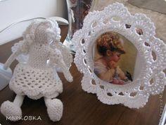 Cristiane Fernandes - Meu Mundo Craft: Porta retrato de crochê. Vintage, romântico e delicado. Para recordações delicadas.
