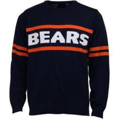 Chicago Bears Vintage Stripe Sweater - Navy Blue 3d7f7256e76f