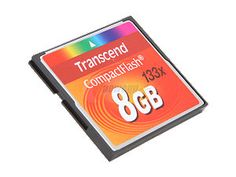 Transcend 8GB Compact Flash (CF) Flash Card Model TS8GCF133