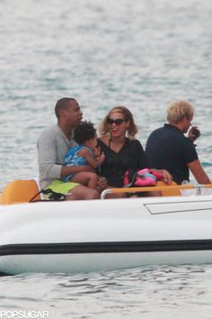 Beyonce and Jay Z with Blue