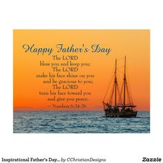 Inspirational Father& Day The Lord Bless You Postcard - fathers day best dad diy gift idea cyo personalize father family Happy Fathers Day Greetings, Happy Fathers Day Images, Fathers Day Poems, Fathers Day Messages, Happy Father Day Quotes, Father's Day Greetings, Fathers Day Bible Verse, Father's Day Scripture, Pomes