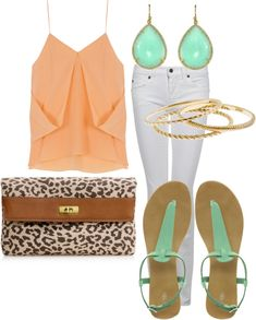 Mint and orange