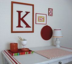 """I like this grouping.  The items are very different but the red bring them together perfectly.  """"Think outside the box."""""""