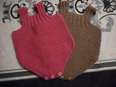 tuto tricot salopette courte barboteuse - YouTube