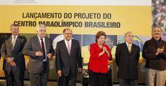 25/jan/2013 - BRASIL - A presidente DILMA ROUSSEFF participa de cerimônia de lançamento do projeto do CENTRO PARAOLIMPICO BRASILEIRO, localizado no Parque Fontes do Ipiranga, na cidade de São Paulo. Roberto Stuckert Filho/PR.
