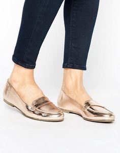 2d11246afc38c5 New Look Leather Metallic Loafer. Wedge Heel SneakersSneaker BootsWomen s  ...