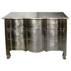 Indian Pressed Metal On Wood Bureau