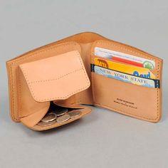 100% genuine cow leather short wallet blue horizon navy