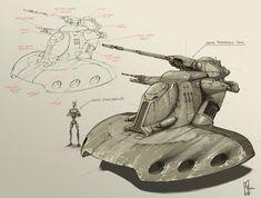 Trade Federation Tank Concept Art, Shane Molina on ArtStation at https://www.artstation.com/artwork/trade-federation-tank-concept-art