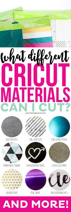 Learn all the different Cricut Materials you can cut with the Cricut Explore Air. You have so many options to create many projects!