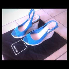 SALE  Dolce Vita Teal Suede Sandals, 7.5 M Dolce Vita Blue Joss - Teal Suede Sandals, 7.5 M, in very good condition, comes with dust bag, worn only few times, pls ask questions if any, open to offers! Dolce Vita Shoes Sandals