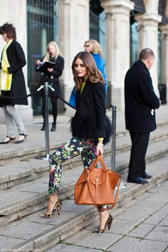 Obviously Olivia Palermo knows what's up.  Love the mixture of floral and leopard prints