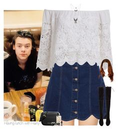 """""""Having lunch with Harry"""" by heslovely ❤ liked on Polyvore featuring Wildfox, Wet Seal, MICHAEL Michael Kors, Casetify, Topshop, Forever 21, Stuart Weitzman, women's clothing, women's fashion and women"""