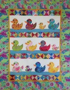 JUST DUCKY BABY QUILT by sewcolorf3043692 | Quilting Pattern - Looking for your next project? You're going to love JUST DUCKY BABY QUILT by designer sewcolorf3043692. - via @Craftsy